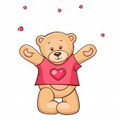 Teddy Bear in heart t-shirt