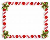 Christmas Holly And Candy Ribbon Frame 2