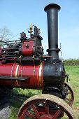 old steam traction engine