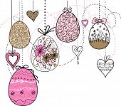 Easter Eggs and hearts