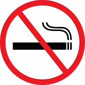 stock photo of tobacco smoke  - A vector illustration of No Smoking sign - JPG
