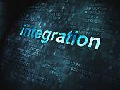 Finance concept: Integration on digital background