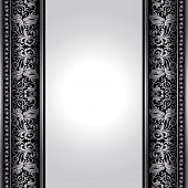 Vintage, Elegant Background, Antique, Victorian Silver, Floral Ornament, Baroque Frame, Beautiful