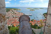 Panorama of the Old Town of Hvar, Croatia