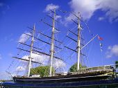picture of sark  - The Cutty Sark is a British clipper ship - JPG
