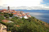 Brsec de pueblo en la península de Istria, en Croacia