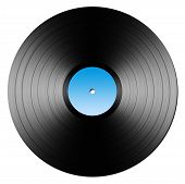 picture of lp  - Illustrated black vinyl record isolated on white - JPG