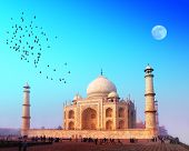 image of mausoleum  - Taj Mahal Palace in India - JPG