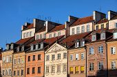 Old Town Tenement Houses In Warsaw