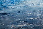 paisagem em azul