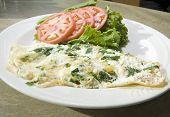 Florentine Spinach Egg White Omelet