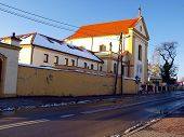 Church And Monastery Of The Capuchins In New Town Pilica In Poland