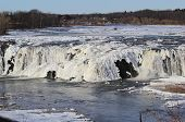 Winter River Falls