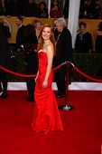 LOS ANGELES - JAN 27:  Jessica Chastain arrives at the 2013 Screen Actor's Guild Awards at the Shrin