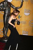 LOS ANGELES - JAN 27:  Tina Fey pose in the press room at the 2013 Screen Actor's Guild Awards at th