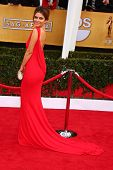 LOS ANGELES - JAN 27:  Maria Menounos arrives at the 2013 Screen Actor's Guild Awards at the Shrine