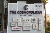 The Cosmopolitan Sign In Las Vegas, Nv On May 18, 2013