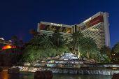 The Mirage Hotel Waterfall In Las Vegas, Nv On June 05, 2013