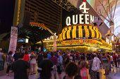 Tourists Enjoy Free Concerts In Las Vegas, June 21, 2013.