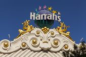 Harrahs Hotel Sign In Las Vegas, Nv On June 26, 2013