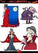 stock photo of dracula  - Cartoon Illustration of Halloween Holiday Themes like Vampire or Count Dracula - JPG
