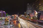 Busy Vegas Strip After A Storm In Las Vegas, Nv On July 19, 2013