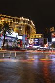 Flood Water In Front Of The Bellagio In Las Vegas, Nv On July 19, 2013