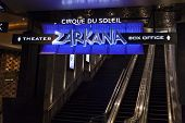 Zarkana Box Office Sign At Aria In Las Vegas, Nv On August 06, 2013