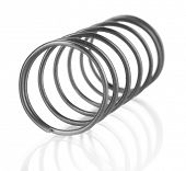 Coil spring isolated on white