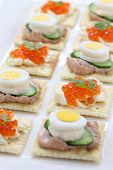 stock photo of canapes  - assorted canape - JPG