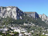Landscape of  island of Capri .
