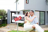 Couple Celebrating Their New House