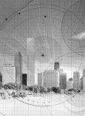 Skyscraper On Blueprint