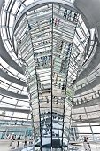 BERLIN, GERMANY - SEPTEMBER 24 : Dome Reichstag at Berlin September 24th, 2011 in Berlin Germany. Is a glass dome constructed on top of the Reichstag building, designed by architect Norman Foster