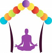 image of namaskar  - Logo for yoga or fitness center - JPG