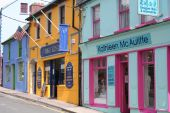 Colourful Shops And Street Dingle Ireland