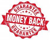 Money Back Red Grunge Stamp