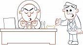 Boss Man Rejecting Employee