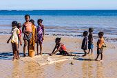 Malagasy Children On The Beach