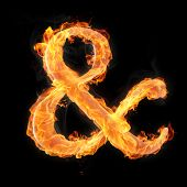 Fonts And Symbols In Fire For Different Purposes
