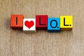 I Love Lol - Sign