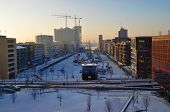 Winter In Hafencity Hamburg