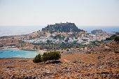 view of the town of Lindos, Rhodes Island