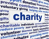 stock photo of word charity  - Charity social issue message - JPG