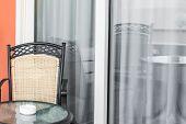 Veranda With A Glass Door