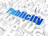 Marketing concept: Publicity on alphabet background