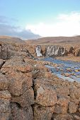 foto of taimyr  - Photo waterfall made during a hike in 2011 on the Putorana plateau - JPG