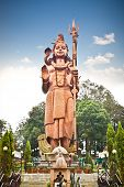 SANGA, NEPAL-MAY 20: Kailashnath Mahadev Statue in Sanga on May 20. 2013,Nepal. World's Tallest Shiv
