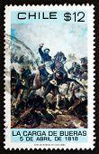 Postage Stamp Chile 1980 Death Of Colonel Santiago Bueras