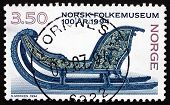 Postage Stamp Norway 1994 Sled, 1750